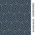 seamless hexagon pattern.... | Shutterstock .eps vector #1828040882