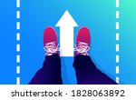 walk on   feet with shoes... | Shutterstock .eps vector #1828063892