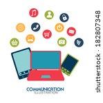 social media design over white... | Shutterstock .eps vector #182807348