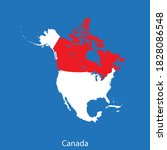 vector map of the canada | Shutterstock .eps vector #1828086548