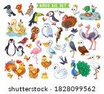 big vector set with birds in... | Shutterstock .eps vector #1828099562
