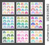 set of different colorful... | Shutterstock .eps vector #1828108082