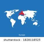 vector map of the europe | Shutterstock .eps vector #1828118525