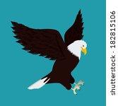 Eagle Design Over  Green...