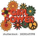 girl power slogan print with... | Shutterstock .eps vector #1828165598