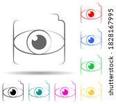 eye lens multi color style icon....