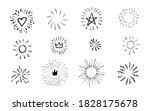 doodle burst in vintage style... | Shutterstock .eps vector #1828175678