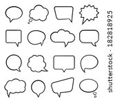 Blank Empty Speech Bubbles For...