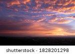 Beautiful Sky At  Sunset Time.