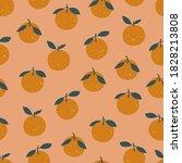 orange clementine seamless... | Shutterstock .eps vector #1828213808