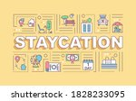 staycation word concepts banner....