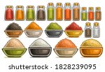 Vector Set Of Different Spices  ...