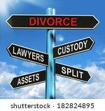 divorce signpost meaning... | Shutterstock . vector #182824895