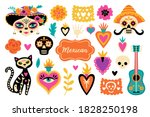 cute set of mexican elements... | Shutterstock .eps vector #1828250198