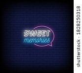 sweet memories neon signs style ... | Shutterstock .eps vector #1828250318
