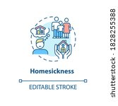 homesickness concept icon.... | Shutterstock .eps vector #1828255388