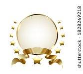 gold laurel wreath winner frame.... | Shutterstock .eps vector #1828269218