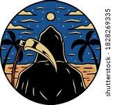 tattoo art illustration vector... | Shutterstock .eps vector #1828269335