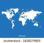 vector map of the finland | Shutterstock .eps vector #1828279805
