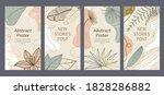 set of 4 trendy abstract art...   Shutterstock .eps vector #1828286882