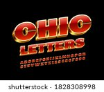 vector chic alphabet letters... | Shutterstock .eps vector #1828308998