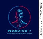 undercut pompadour man logo... | Shutterstock .eps vector #1828316825