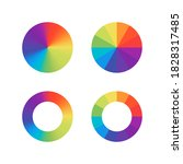color wheels. vector isolated...   Shutterstock .eps vector #1828317485