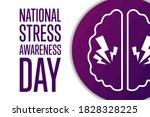 national stress awareness day....   Shutterstock .eps vector #1828328225