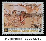 greece   circa 1992   stamp... | Shutterstock . vector #182832956