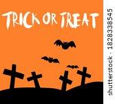 Halloween Spooky Flat Vector...