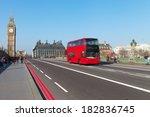 westminster bridge in london ... | Shutterstock . vector #182836745