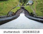 Aerial View Of Water Flowing...