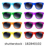 set of sunglasses | Shutterstock . vector #182840102
