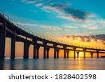 Bridge Silhouette On Background ...