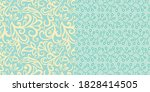 pattern set of swirly floral... | Shutterstock .eps vector #1828414505