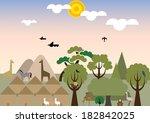 village in africa | Shutterstock . vector #182842025