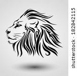 tribal lion | Shutterstock .eps vector #182842115