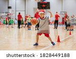 Young Boy With Santa Clause Hat ...