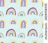 rainbow clipart. baby cute...   Shutterstock . vector #1828458455