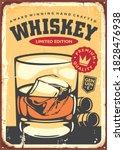 glass of whiskey retro sign... | Shutterstock .eps vector #1828476938