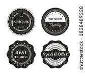 retro vintage badges and labels   Shutterstock .eps vector #1828489328