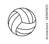 volleyball ball   icon | Shutterstock . vector #182849852
