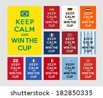keep calm and win the cup | Shutterstock .eps vector #182850335