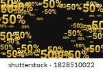 percent sings on dark... | Shutterstock .eps vector #1828510022