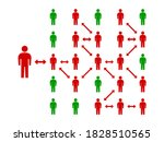 symbolic graphic showing people ...   Shutterstock .eps vector #1828510565