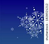 snowflakes christmas background....   Shutterstock .eps vector #1828521212
