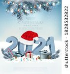 holiday christmas background... | Shutterstock .eps vector #1828532822