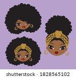 cute african american black...   Shutterstock .eps vector #1828565102