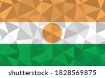 low poly niger flag vector... | Shutterstock .eps vector #1828569875