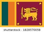 sri lanka flag vector graphic.... | Shutterstock .eps vector #1828570058